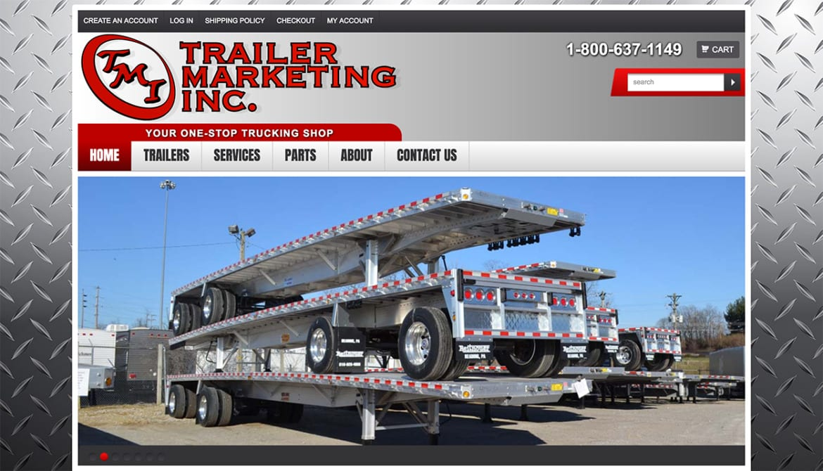 E-commerce Website Development for Trailer Marketing Inc.