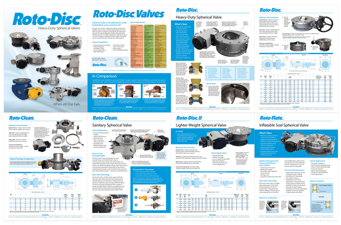 Advertising Brochure Design for RotoDisc Industrial Valves